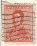Sellos de America - Argentina -  ARGENTINA 1917 (MT217) San Martin 5c 3