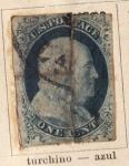 Stamps Europe - United States -  Presidente Frankil Edicion 1851