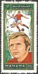 Stamps : Asia : United_Arab_Emirates :  Manama - Bobby Moore (Inglaterra)