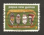 Stamps Oceania - Papua New Guinea -  independencia gubernamental, mascaras