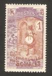 Stamps : Africa : Djibouti :  Costa de Somalís - tocando el tambor