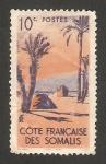 Stamps : Africa : Djibouti :  Costa de Somalís -  tienda  en oasis