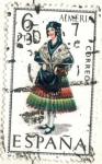 sellos de Europa - España -  ESPANA 1967 (E1770) Trajes tipicos espanoles - Almeria 6p