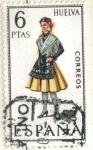 sellos de Europa - España -  ESPANA 1968 (E1849) Trajes tipicos espanoles - Huelva 6p