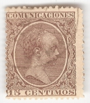 Stamps of the world : Spain :  Alfonso XIII, Tipo Pelón. - Edifil 219