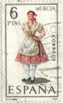 sellos de Europa - España -  ESPANA 1969 (E1906) Trajes tipicos espanoles - Murcia 6p