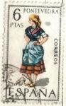 Stamps of the world : Spain :  ESPANA 1970 (E1950) Trajes tipicos espanoles - Pontevedra 6p