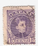 Stamps Spain -  Alfonso XIII, Tipo Cadete. - Edifil 246