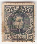 Stamps Europe - Spain -  ALfonso XIII, Tipo Cadete. - Edifil 244