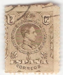 Stamps Europe - Spain -  Alfonso XIII, Tipo Medallón. - Edifil 267