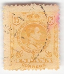 Stamps Europe - Spain -  Alfonso XIII, Tipo Medallón. - Edifil 271