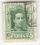 Stamps Spain -  Alfonso XIII, Tipo Vaquer. - Edifil 314