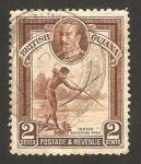 Stamps Europe - Guyana -  Guyana británica - indigena pescando