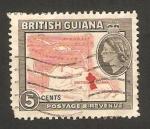 Sellos del Mundo : Europa : Guyana : Guyana británica - mapa de la colonia