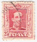 Stamps Europe - Spain -  Alfonso XIII, Tipo Vaquer. - Edifil 317 A