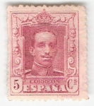 Stamps Europe - Spain -  Alfonso XIII, Tipo Vaquer. - Edifil 312