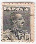 Stamps Europe - Spain -  Alfonso XIII, Tipo Vaquer de perfil. - Edifil 321