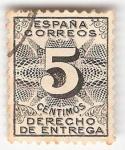 Sellos del Mundo : Europa : España : Derecho de entrega. - Edifil 592