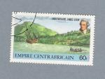 Stamps Africa - Central African Republic -  Aniversario de James Cook