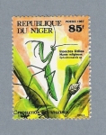 Stamps Africa - Niger -  Insectos Utiles. Mante Religleuse