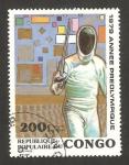 Stamps : Africa : Republic_of_the_Congo :  Año preolímpico, esgrima