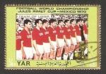 Stamps Asia - Yemen -  mundial de fútbol México 1970, equipo de la URSS