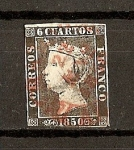 Stamps Europe - Spain -  Isabel II / Plancha I