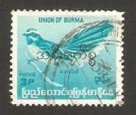 Sellos del Mundo : Asia : Myanmar : burma - ave muscicape