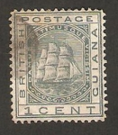 Stamps America - Guyana -  Guyana británica - barco