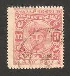 Stamps India -  cochin anchal - maharajah rama varma IV