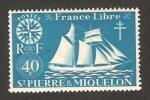 Sellos del Mundo : America : San_Pierre_&_Miquelon : Francia libre, barco