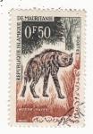 Sellos de Africa - Mauritania -  Fauna Hiena Rayee
