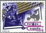 Stamps Spain -  EUROPA ESPACIAL