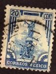 Stamps America - Mexico -  Monumento a la independencia PUEBLA