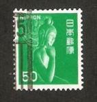 Sellos de Asia - Japón -  1177 - Kwannon del Templo de Chuguji