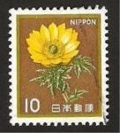Sellos de Asia - Japón -  flor adonis