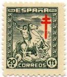 Stamps Spain -  PRO TUBERCULOSOS.985