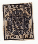 Sellos del Mundo : Europa : España : Escudo Ed 1854