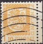 Sellos de Europa - Finlandia -  FINLANDIA 1979 Scott 565 Sello Serie Basica Heraldica usado Suomi Finland Michel 834