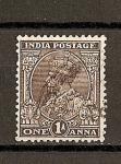 Sellos de Europa - Reino Unido -  Jorge V / India Inglesa / sello 1911-26  India Postage