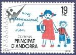 Sellos de Europa - Andorra -  ANDORRA Any Internacional del Nen 19 NUEVO (2)