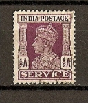 Sellos de Europa - Reino Unido -  Jorge VI /  India Inglesa / Servicio