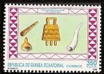 Stamps Africa - Equatorial Guinea -  Instrumentos musicales - etnia Bubi