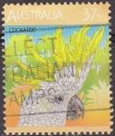 Stamps Australia -  AUSTRALIA 1987 Scott 1035B Sello Animales, Aves Papagallos Cockatoo Usado Michel 1042