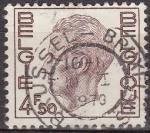 Stamps Belgium -  Belgica 1974 Scott 754 Sello Rey Balduino 4,50Fr usado Belgique