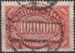 Sellos de Europa - Alemania -  Deutsches Reich 1922 Scott 209 Sello Serie Basica Numeros 100000 usado Alemania Michel257