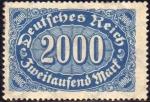 Sellos de Europa - Alemania -  Deutsches Reich 1922 Scott 205 Sello Nuevo * Cifras 2000 Alemania Germany