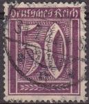 Sellos de Europa - Alemania -  Deutsches Reich 1922 Scott 143 Sello Serie Basica Numeros 50 usado Alemania