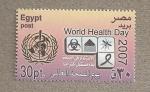 Sellos del Mundo : Africa : Egipto :  Día Mundial de la Salud