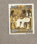 Stamps Egypt -  Pareja real